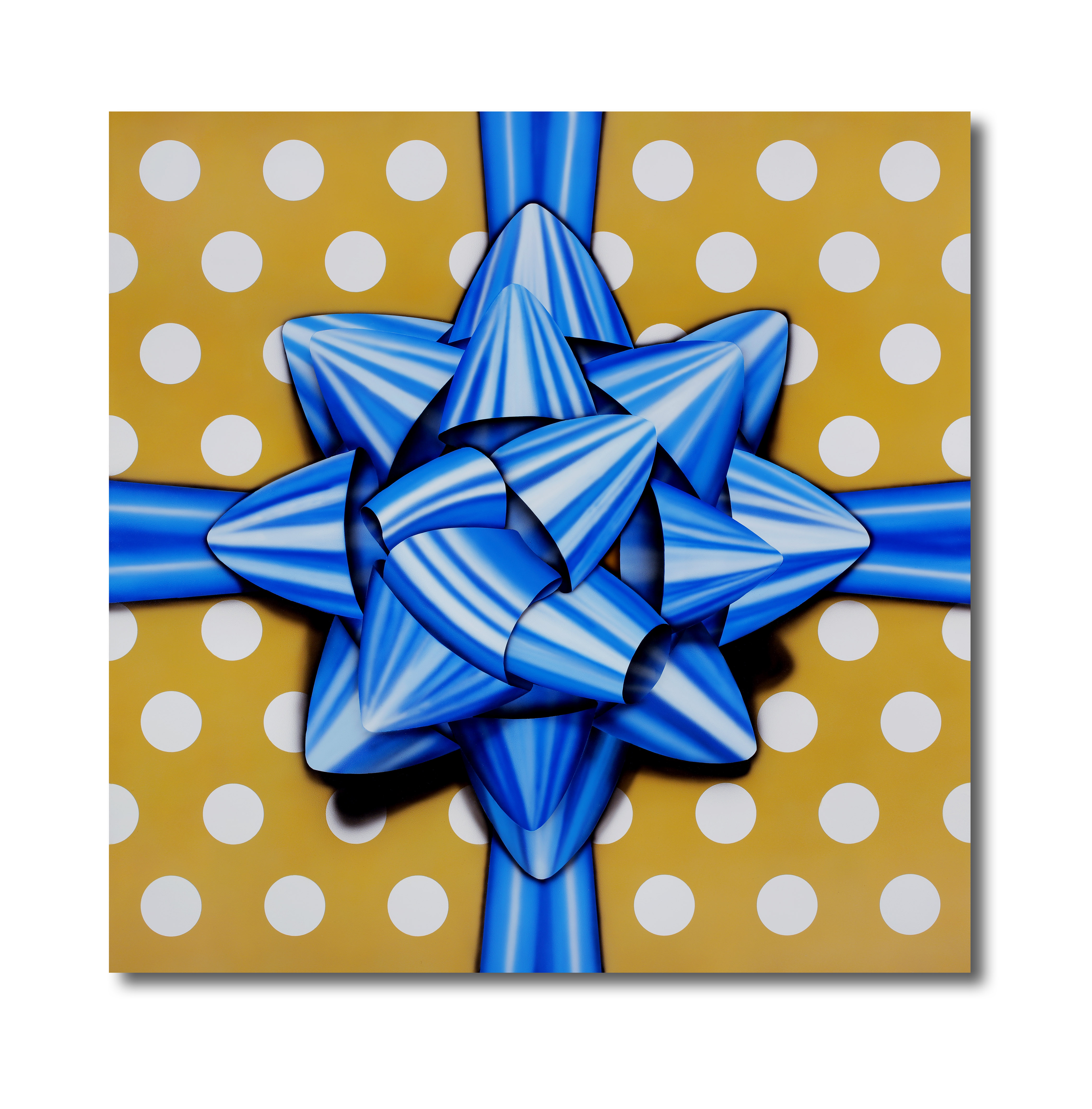 "Title: Blue Star Artist: Mark Travers Year: 2016 Medium: Acrylic on wood panel Size: 35.25"" x 35.25"""