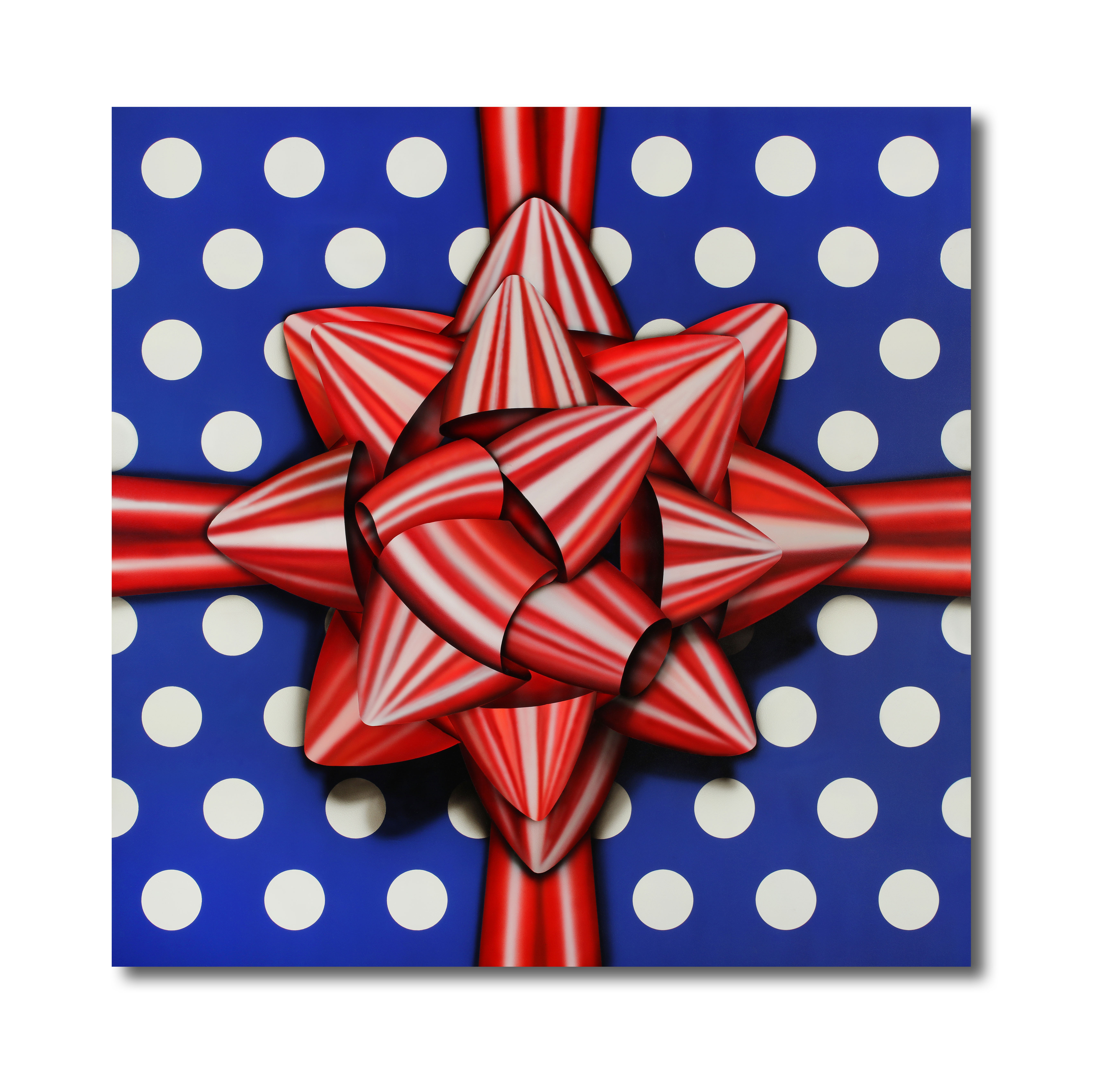 "Title: Red Star Artist: Mark Travers Year: 2016 Medium: Acrylic on wood panel Size: 35.25"" x 35.25"""